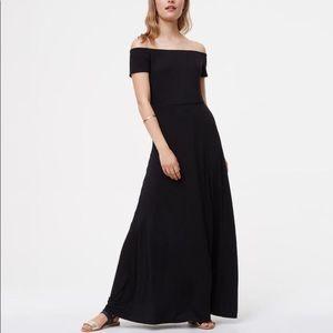Loft // NWT off the shoulder maxi dress
